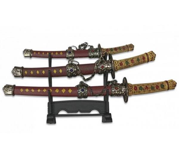 Mini szamurájkard készlet, 3 db-os, 32483