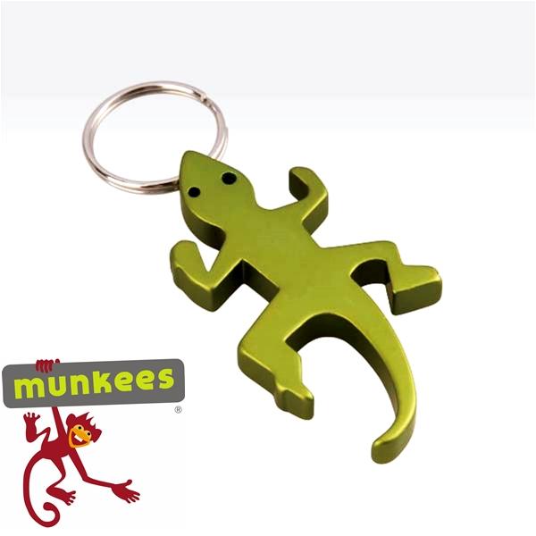 Munkees sörnyitó kulcstartó, gekkó, 3411