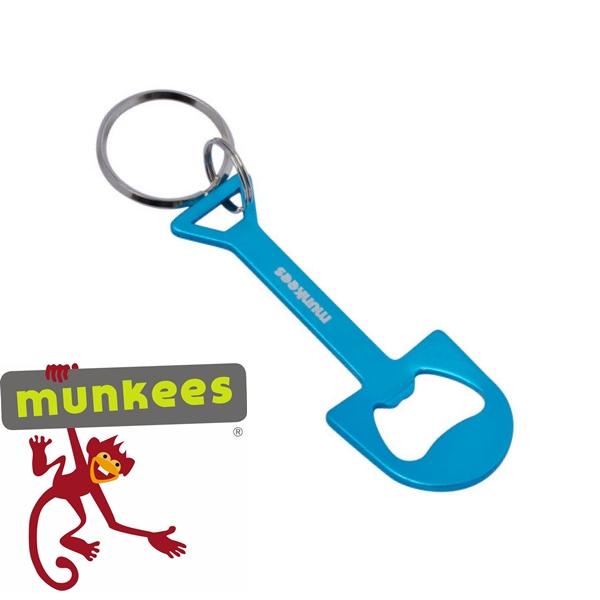 Munkees sörnyitó kulcstartó, ásó, 3471
