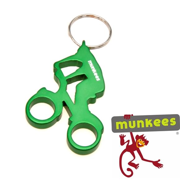 Munkees sörnyitó kulcstartó, kerékpáros, 3527