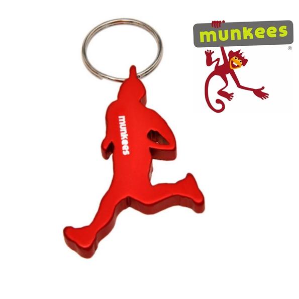 Munkees sörnyitó kulcstartó, futó, 3526