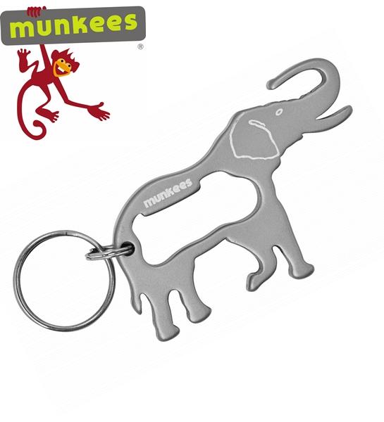 Munkees sörnyitó kulcstartó, elefánt, 3437