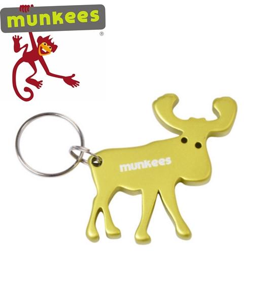 Munkees sörnyitó kulcstartó, jávorszarvas, 3473