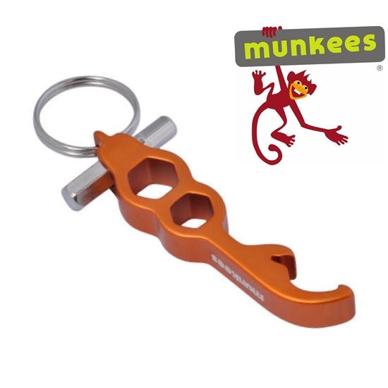Munkees sörnyitó kulcstartó, multikulcs, 3413