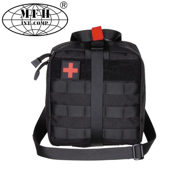 MFH Molle elsősegély táska, fekete, nagy, 30631A