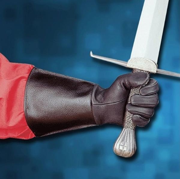 Bőr kesztyű kardforgatáshoz, 200376