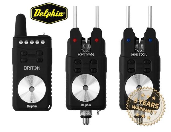 Delphin Briton 2+1-es elektromos rádiós kapásjelző szett, 900022430