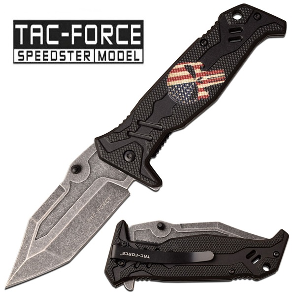 Tac Force American Flag Knife, TF-1025BK