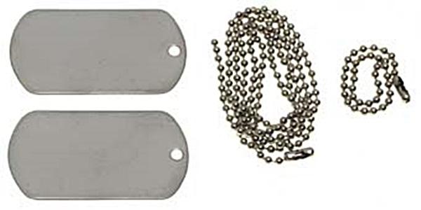Dögcédula, ezüst színű, 27404