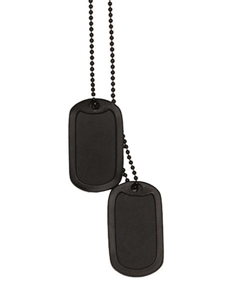Dögcédula védőgumival, fekete színű, 16311002