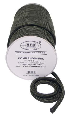 Kötél 9 mm-es, 60 méter, olív, 27505C