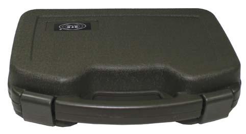 Pisztoly tároló koffer, nagy, olív, 27170B