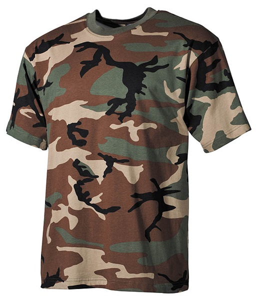 Terepszínű katonai póló, woodland, 00103T