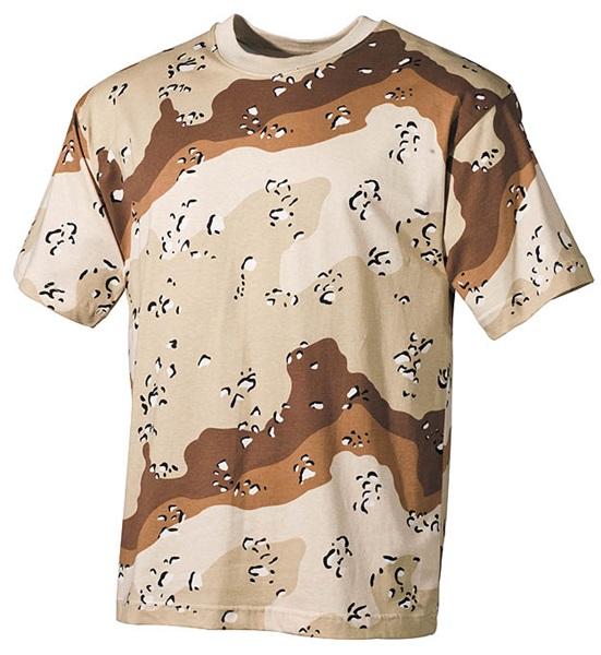 Terepszínű katonai póló, 6 színű desert, 00103W
