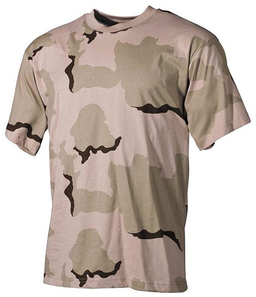 Terepszínű katonai póló, 3 színű desert, 00103Z