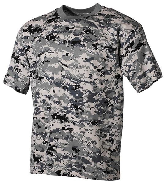Terepszínű katonai póló, digital urban, 00104B