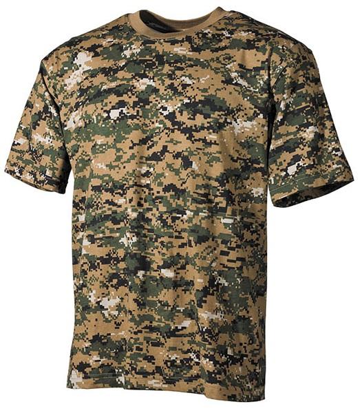 Terepszínű katonai póló, digital woodland, 00104C