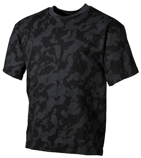 Terepszínű katonai póló, night-camo, 00104D