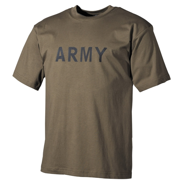 "Katonai póló ""Army"", olív, 00253B"