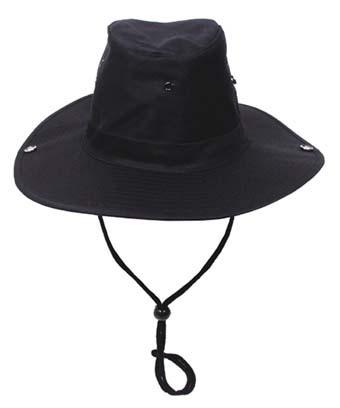 Klasszikus safari kalap, fekete 10703A