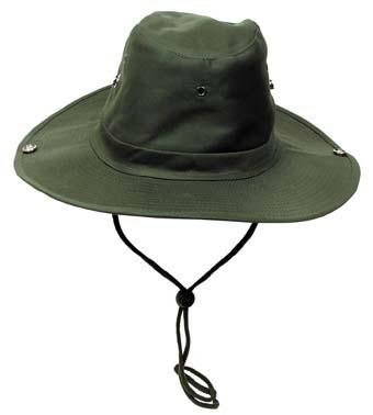 Klasszikus safari kalap, olív, 10703B