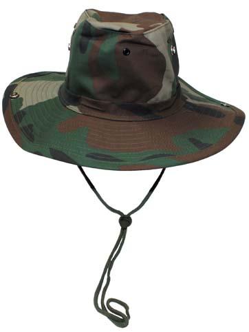 Klasszikus safari kalap, woodland, 10703T
