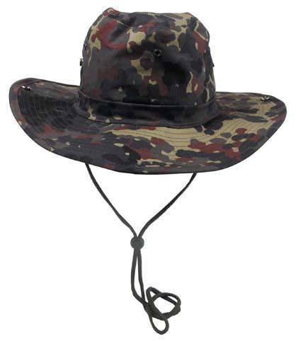 Klasszikus safari kalap, flecktarn, 10703V
