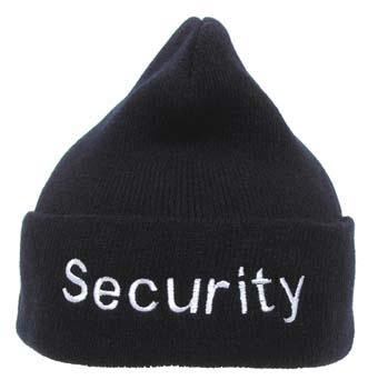 Security sapka, fekete, 10930A