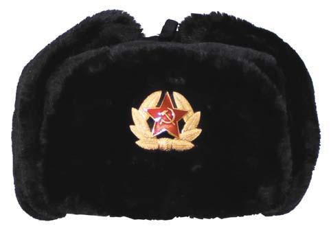 Orosz szőrme sapka, fekete, 10031A