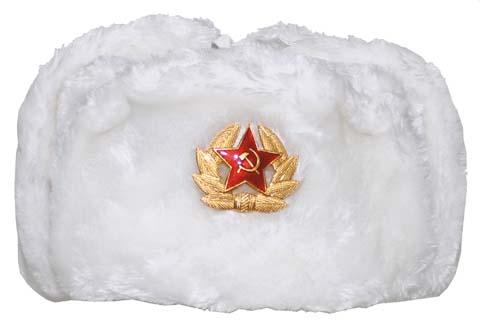 Orosz szőrme sapka, fehér, 10031L