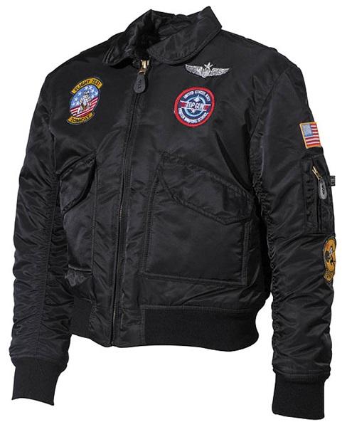 Gyerek pilóta dzseki, fekete, 17352A
