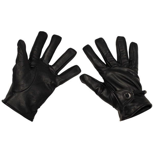 Western bőr kesztyű, fekete, 15253A