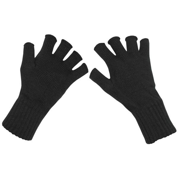 Kötött ujjatlan kesztyű, fekete, 15453A