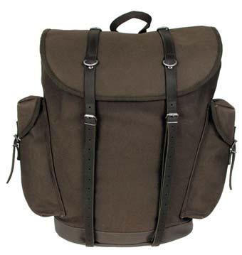 BW hegyi hátizsák bőr szíjjal, olív, 30303B