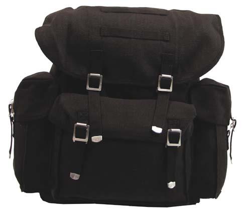BW vászon hátizsák, fekete, 30323A