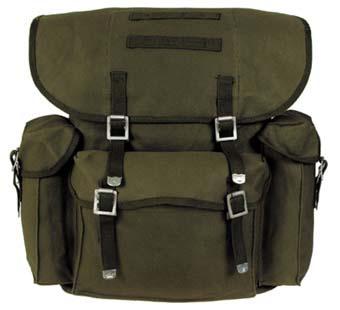 BW vászon hátizsák, olív, 30323B