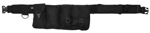 Gyöngyvászon öv 6 táskával, fekete, 22320A