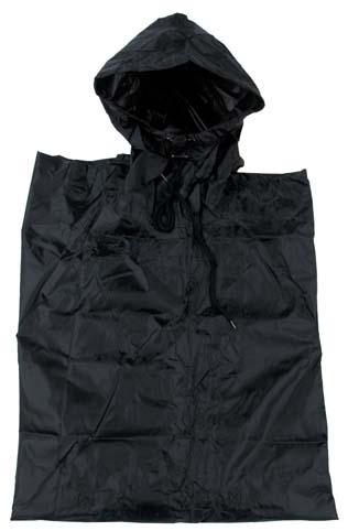 Poncho Rip Stop anyagból, fekete, 08524A