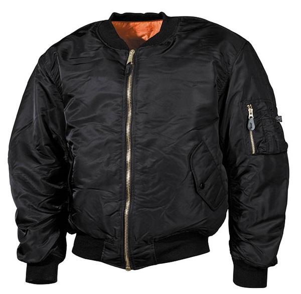 """US pilótadzseki """"MA 1"""", fekete, extra méret, 03553A"""