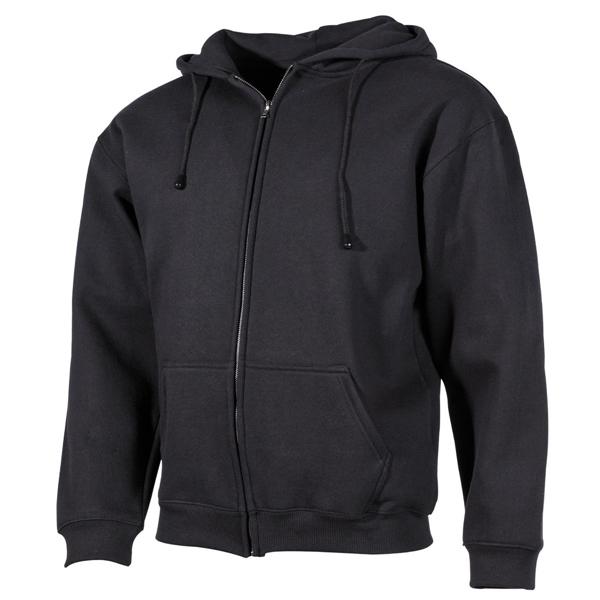 Kapucnis pulóver, cippzáras, fekete, 00622A