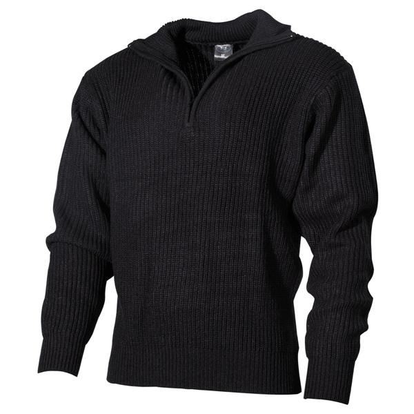 Izlandi kötött pulóver, fekete, 05505A