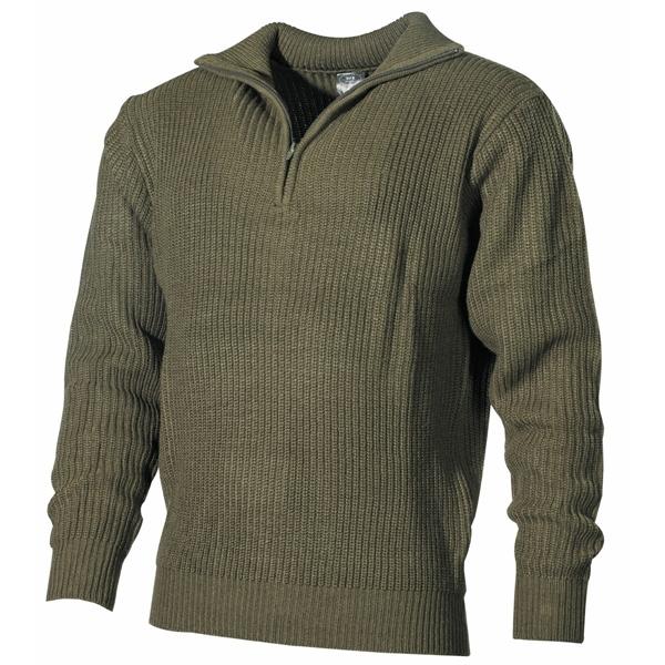 Izlandi kötött pulóver, olív, 05505B