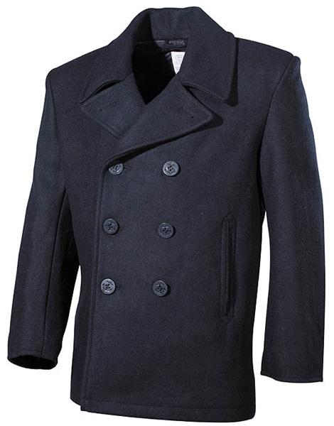 """Tengerész gyapjú kabát """"Pea Coat"""", kék, 09015G"""