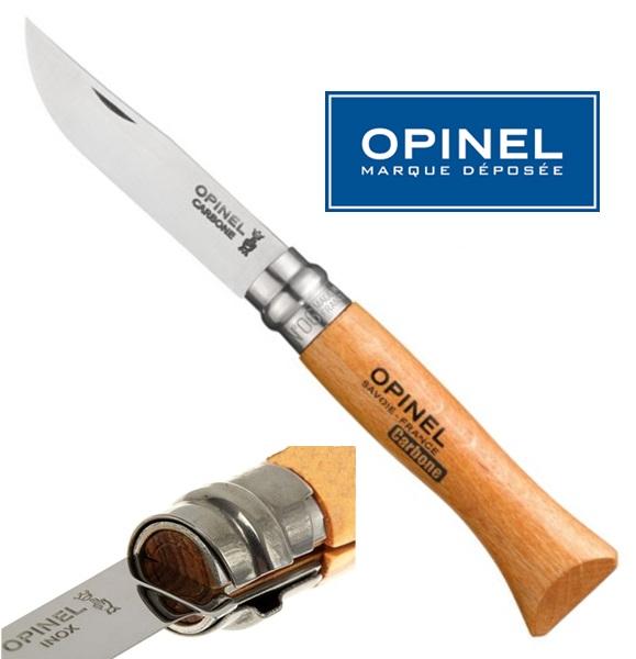Opinel carbon steel bicska, No.6