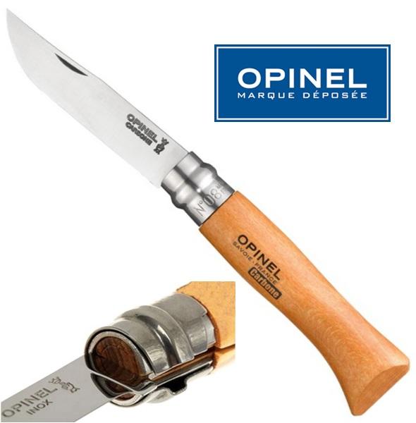 Opinel carbon steel bicska, No.8