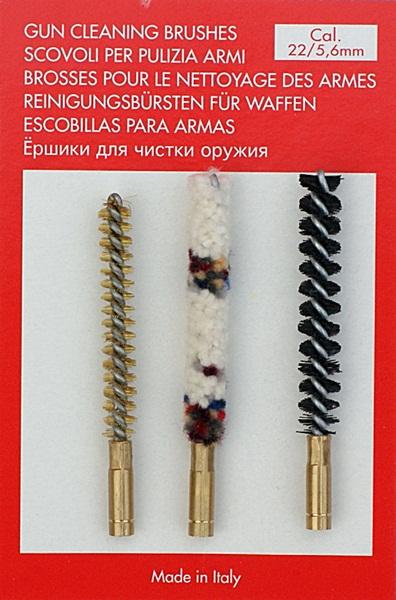 Tisztítókefe készlet, cal .22, (5.6 mm-es)