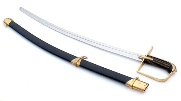 Huszár kard XVIII.sz. edzett pengével