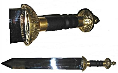 Római kard, dísz pengével