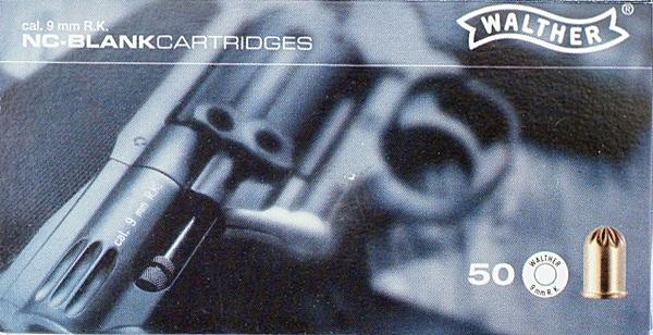 9 mm-es riasztópatron, forgó, Walther