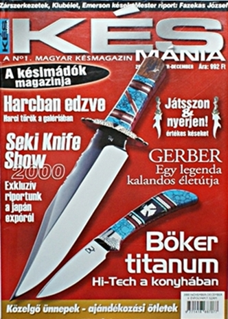 Késmánia magazin 7. szám, 2000 november-december